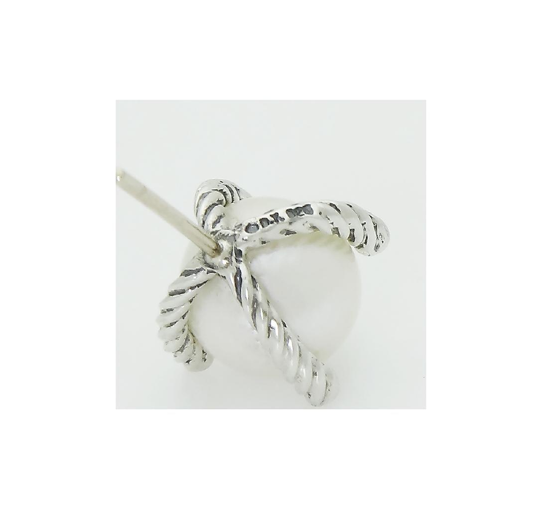 DAVID YURMAN Sterling Silver Pearl Earrings with - 4