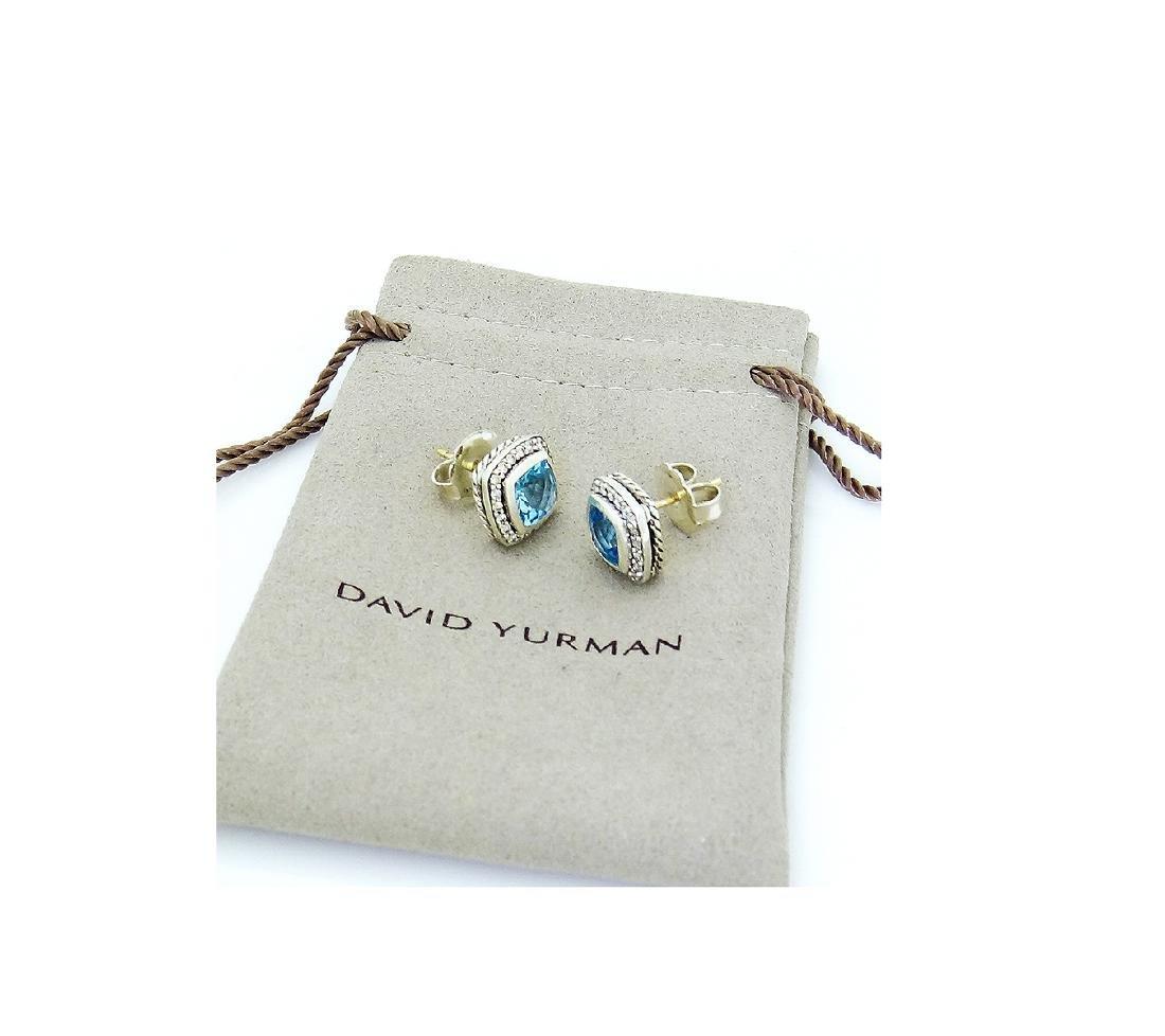 David Yurman 925 Albion  w/ Blue Topaz & Diamond - 5