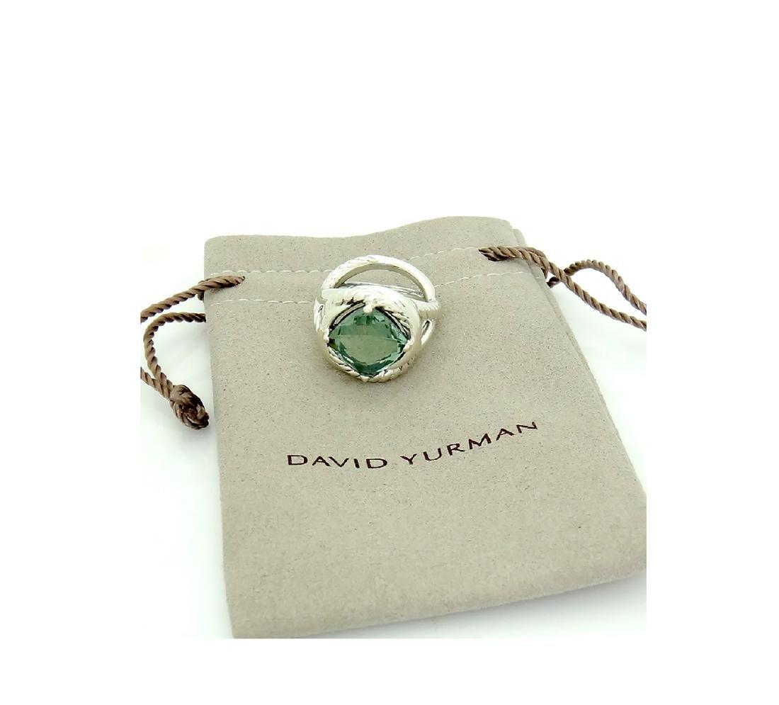 DAVID YURMAN Sterling Silver Infinity Prasoilite 11mm. - 5