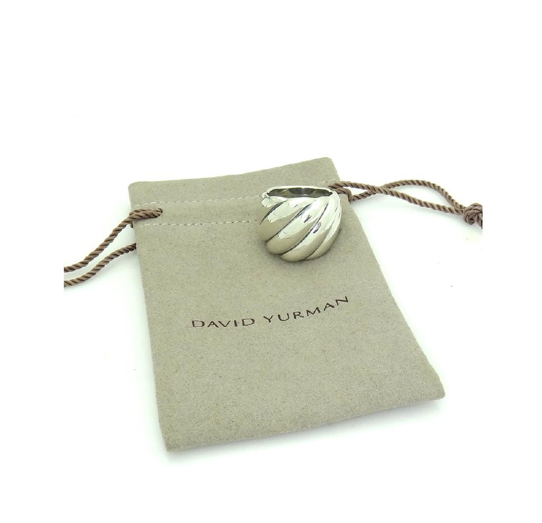 David Yurman 925 Sterling Silver Hampton Cable Ring Sz6 - 2