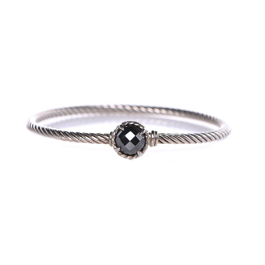 David Yurman Sterling Silver 3mm Chatelaine Hematite