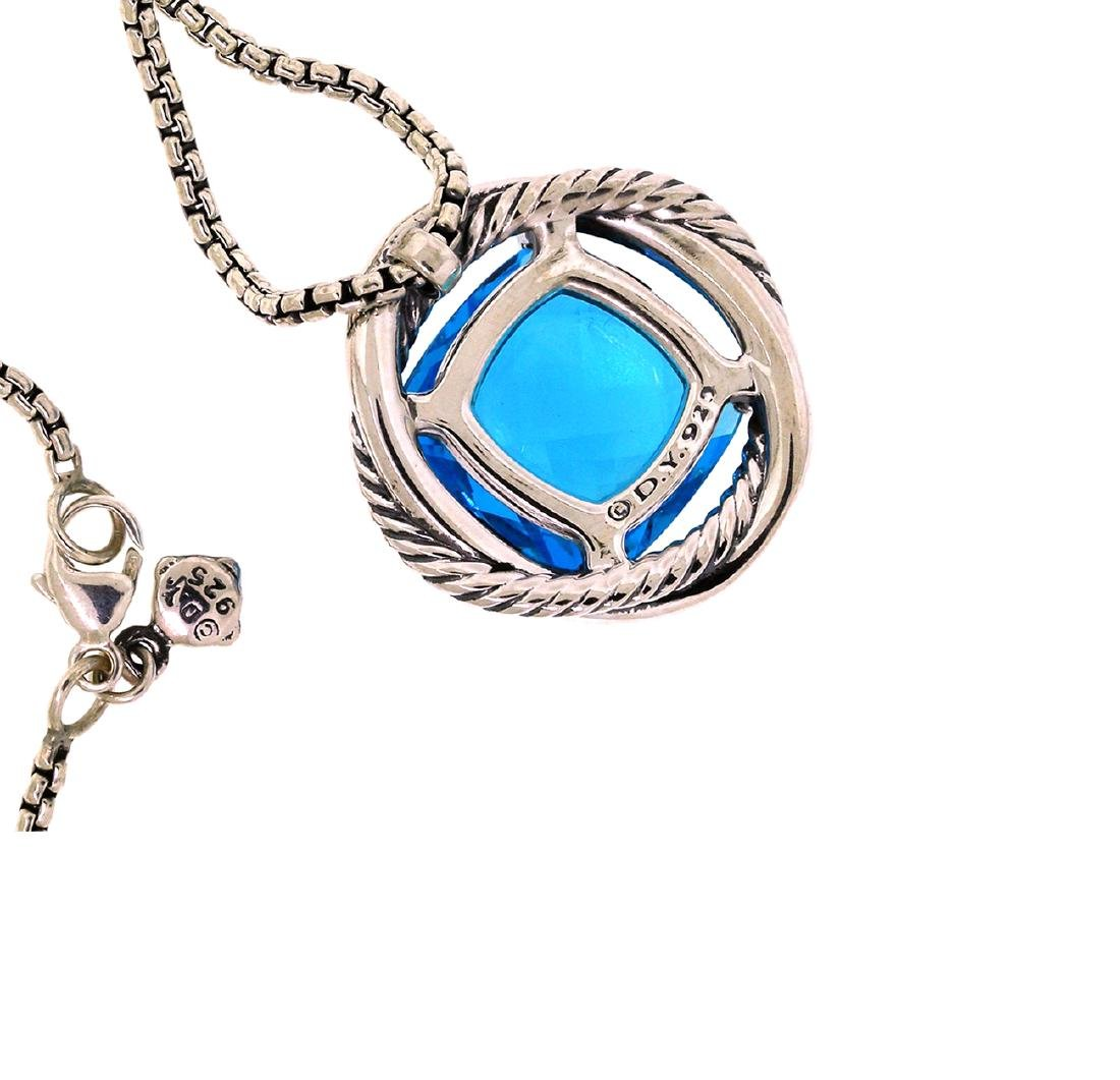 David Yurman Sterling Silver Infinity 14mm. Blue Topaz - 2