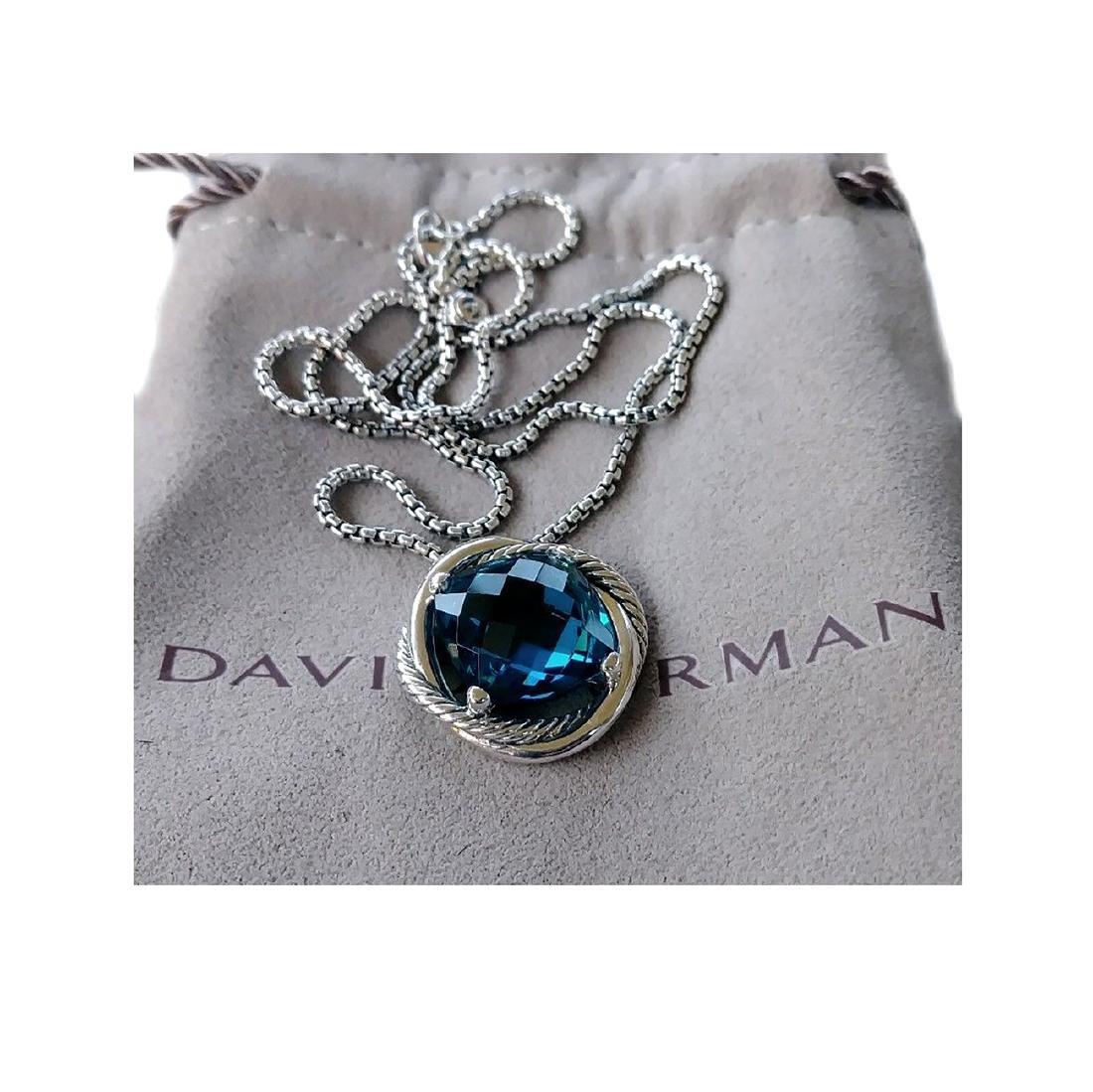 David Yurman Sterling Silver Infinity 14mm. Blue Topaz - 3