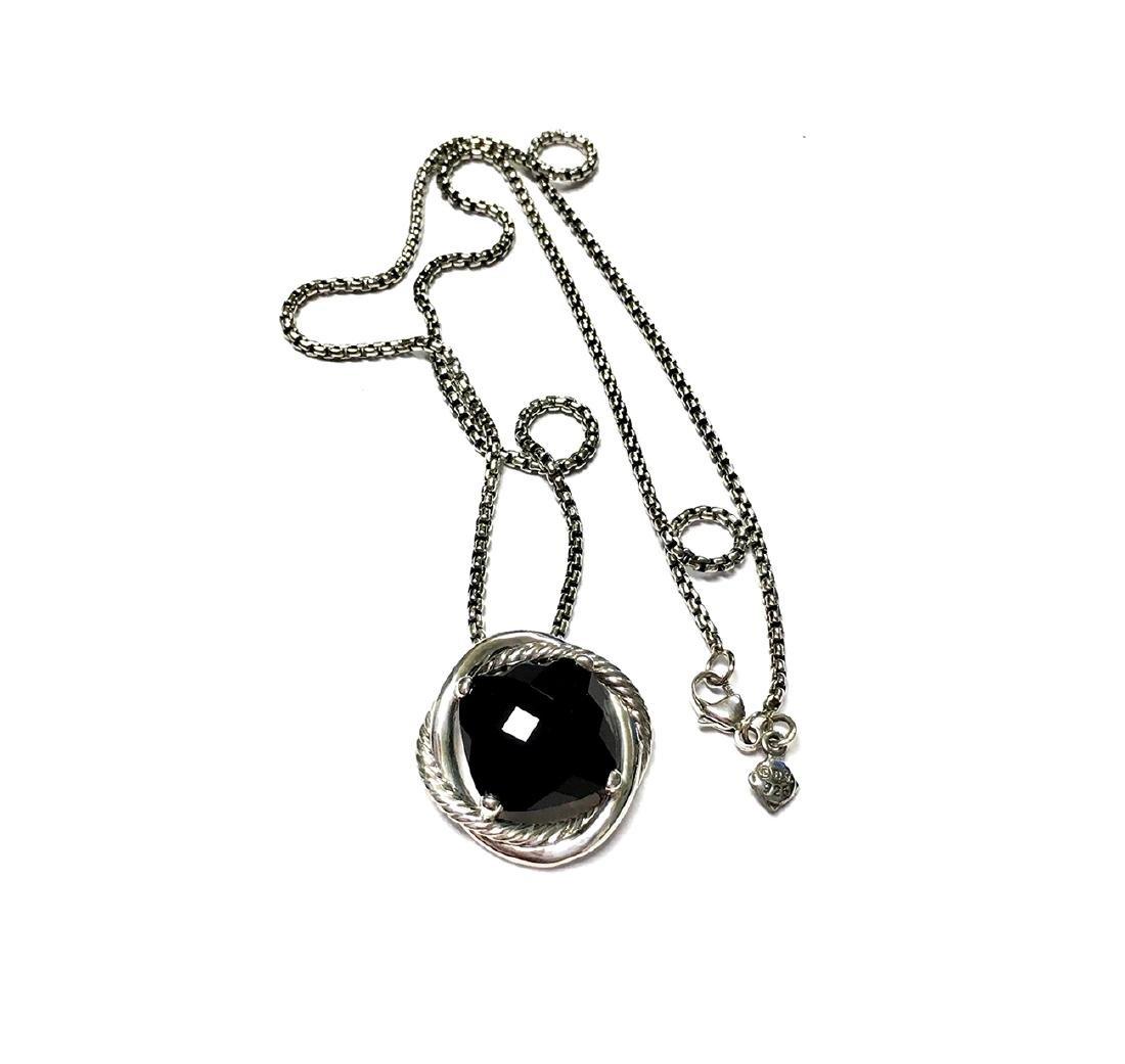 David Yurman Sterling Silver Infinity Black Onyx