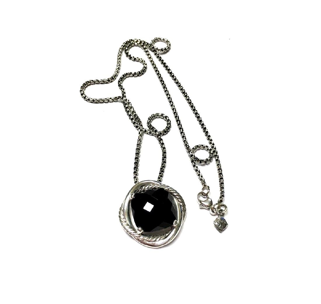 David Yurman Sterling Silver Infinity Black Onyx