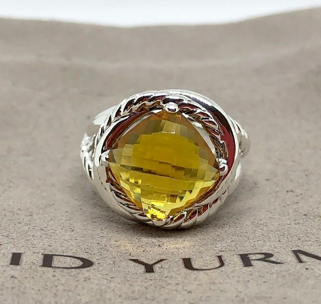 David Yurman Sterling Silver Infinity 11mm Citrine Ring
