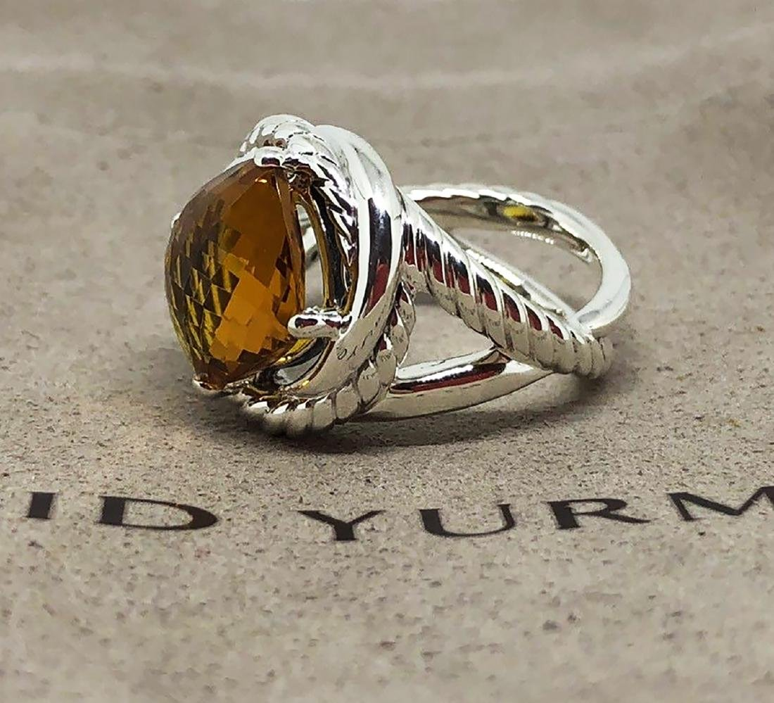 David Yurman Sterling Silver Infinity 11mm Citrine Ring - 2