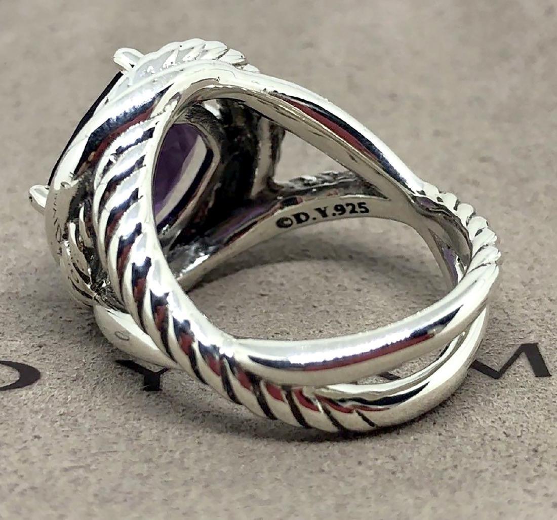 David Yurman Sterling Silver Infinity 11mm Amethyst - 3