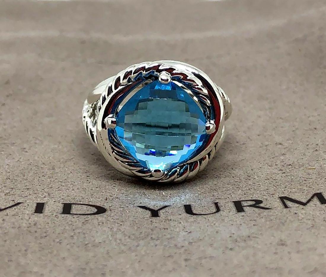 David Yurman Sterling Silver Infinity 11mm Blue Topaz