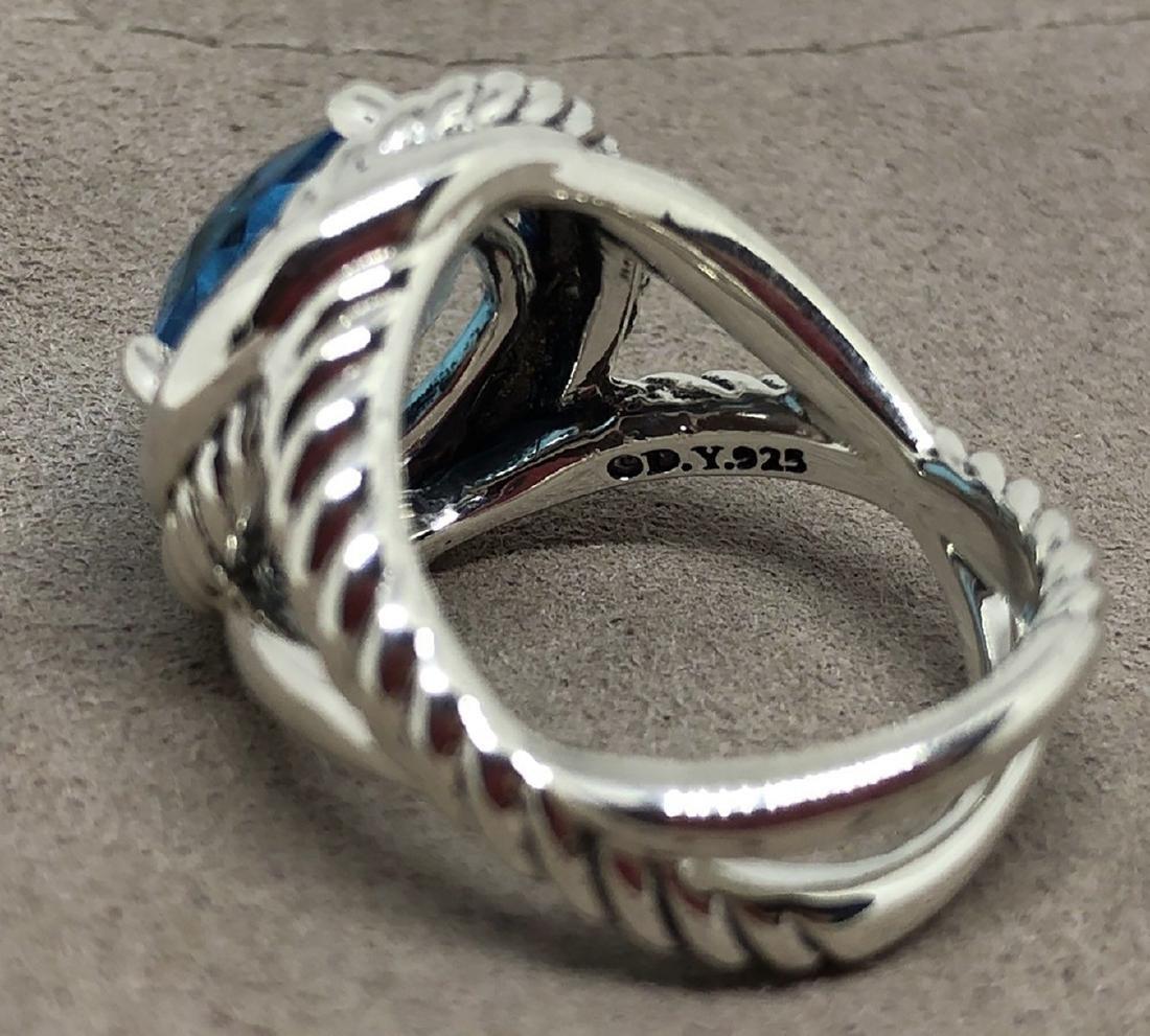 David Yurman Sterling Silver Infinity 11mm Blue Topaz - 2