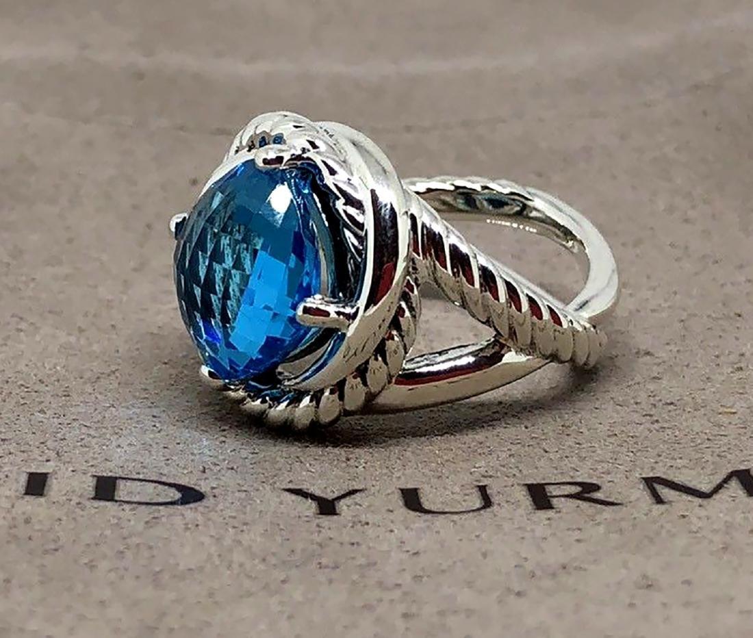 David Yurman Sterling Silver Infinity 11mm Blue Topaz - 3