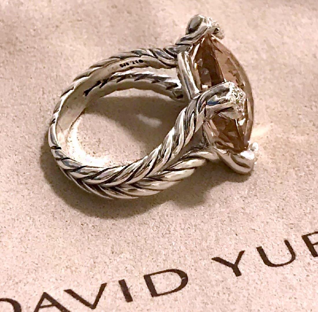 David Yurman Sterling Silver Chatelaine Moragnite 15mm - 3