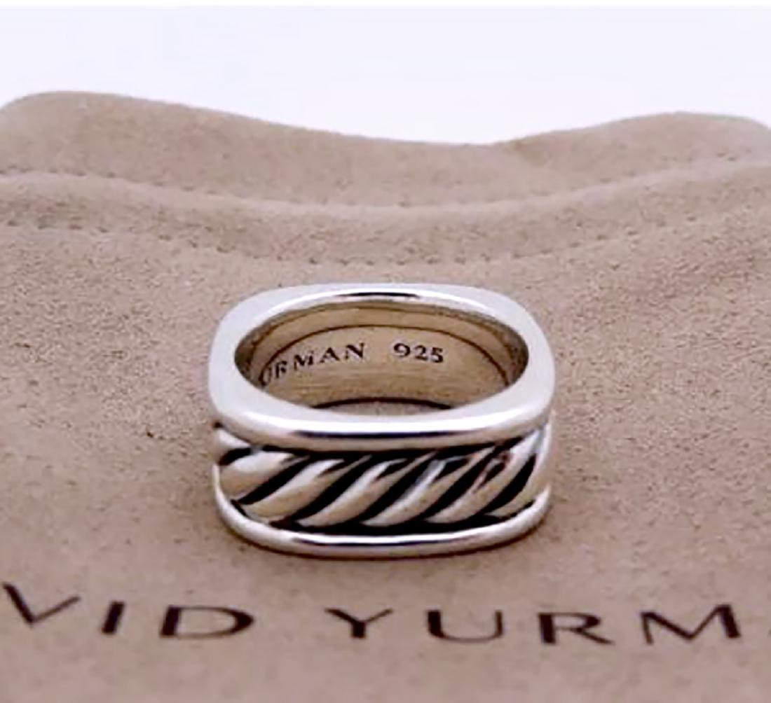 David Yurman Sterling Silver Narrow Sculpted Cable - 3