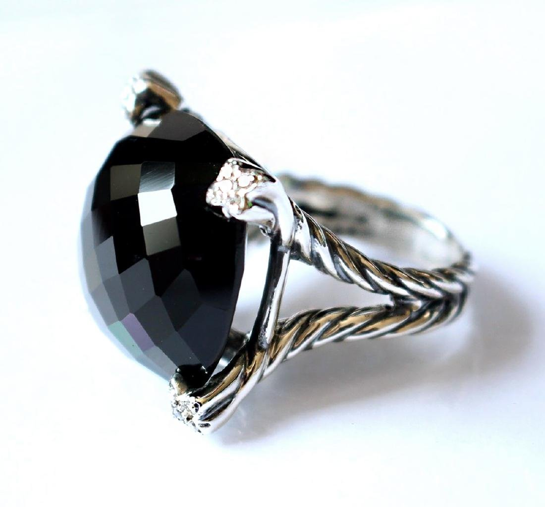 David Yurman Sterling Silver Chatelaine Black Onyx 15mm - 2