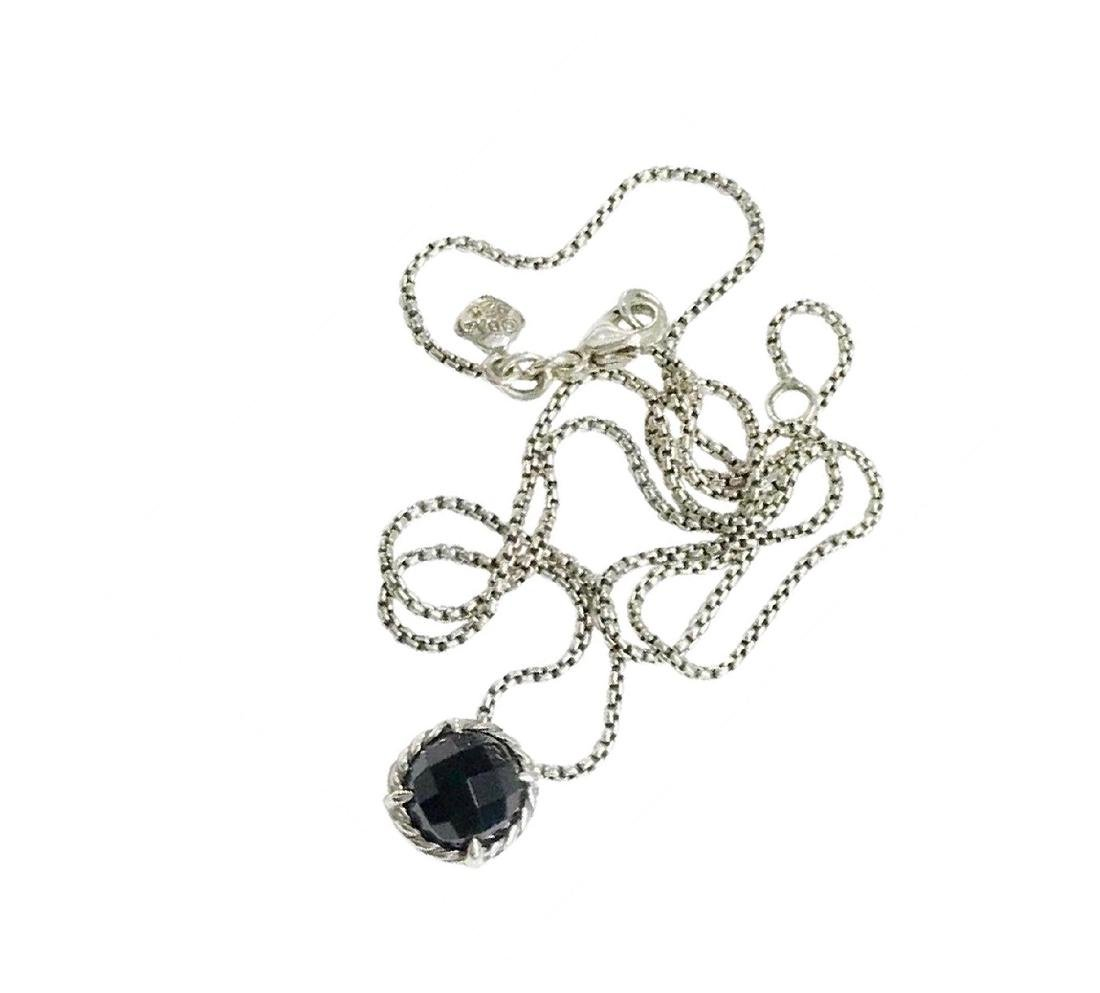 David Yurman Sterling Silver Chatelaine Black Onyx
