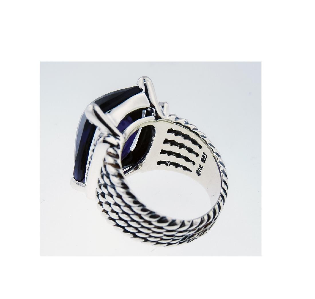 David Yurman 925 Sterling Silver Wheaton Ring with - 3
