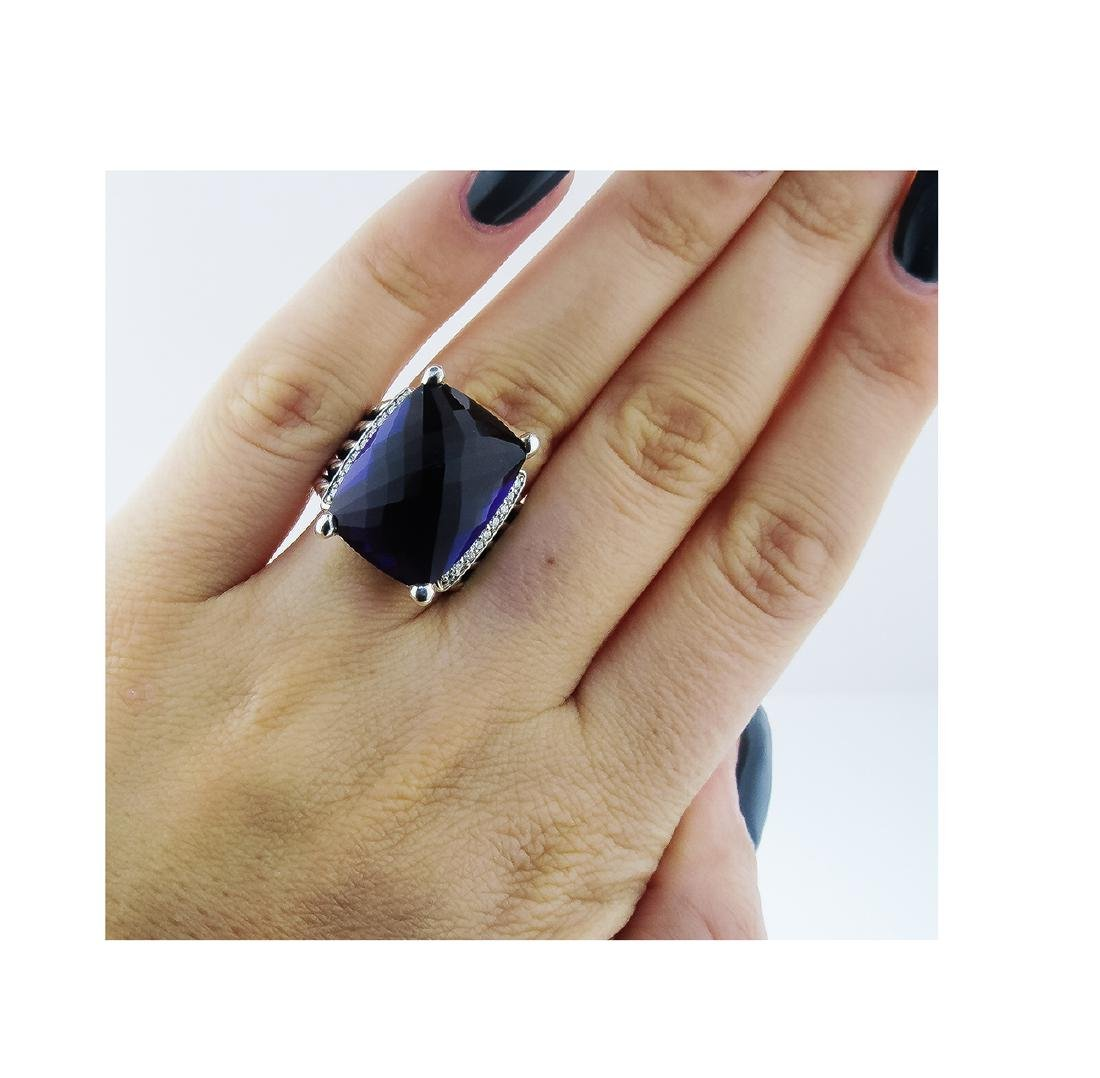 David Yurman 925 Sterling Silver Wheaton Ring with - 4