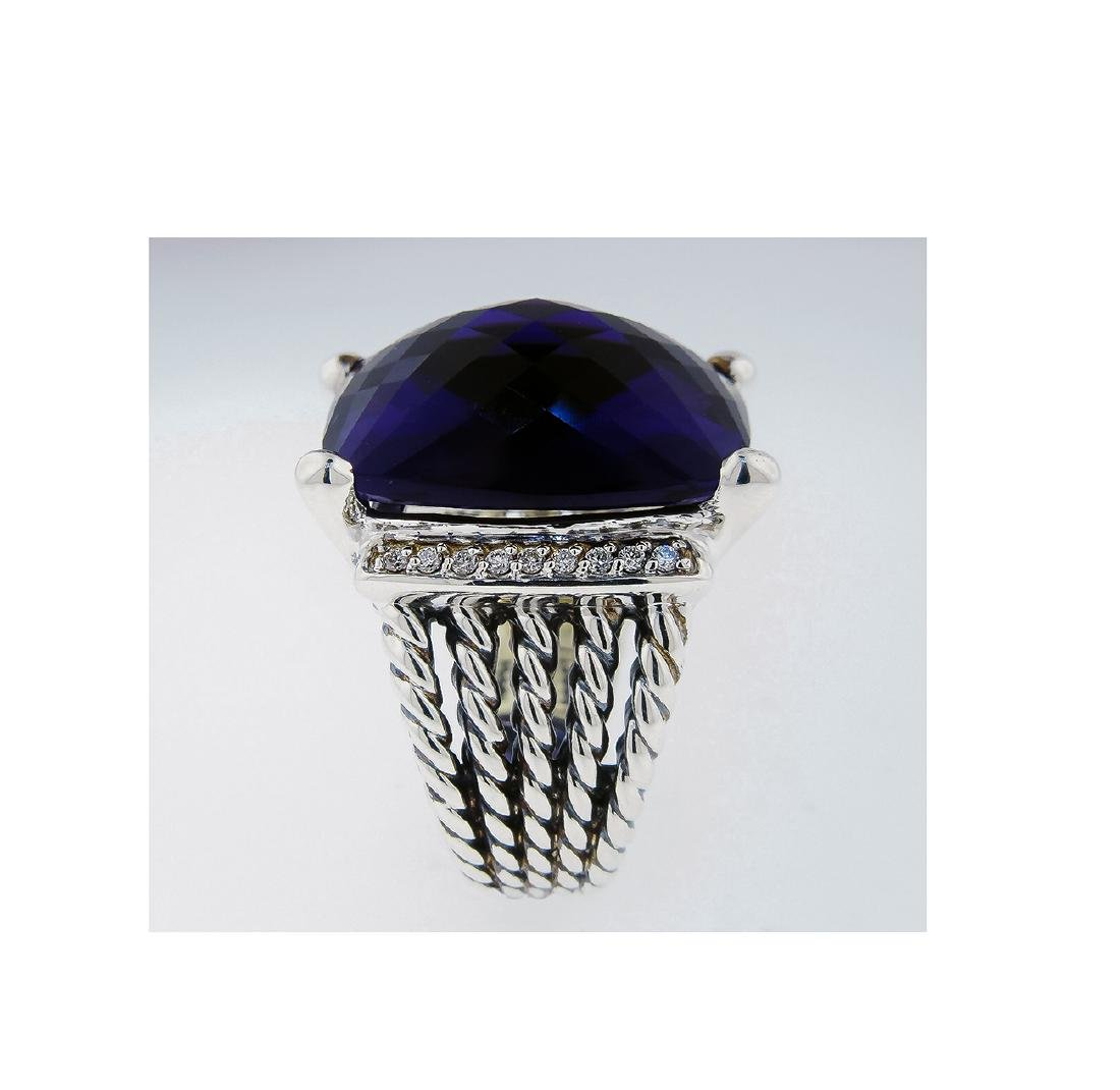 David Yurman 925 Sterling Silver Wheaton Ring with - 5