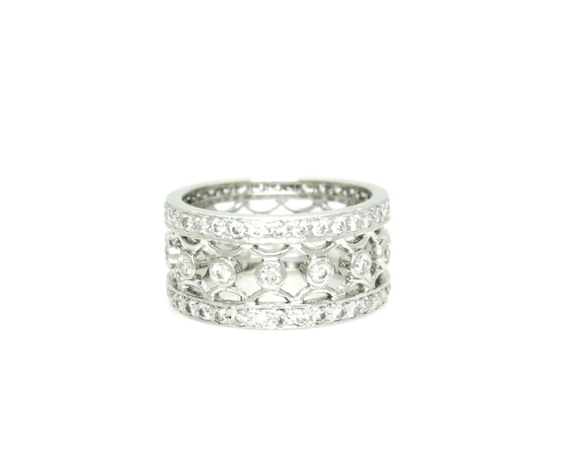 Platinum 1.27 carat VS G Diamond Lattice Bracelet