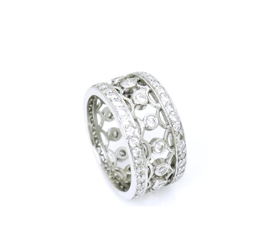 Platinum 1.27 carat VS G Diamond Lattice Bracelet - 2