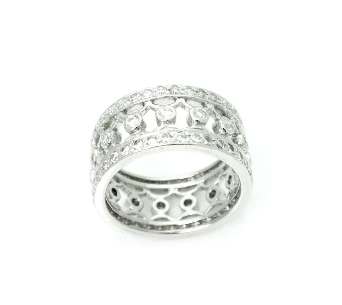 Platinum 1.27 carat VS G Diamond Lattice Bracelet - 3