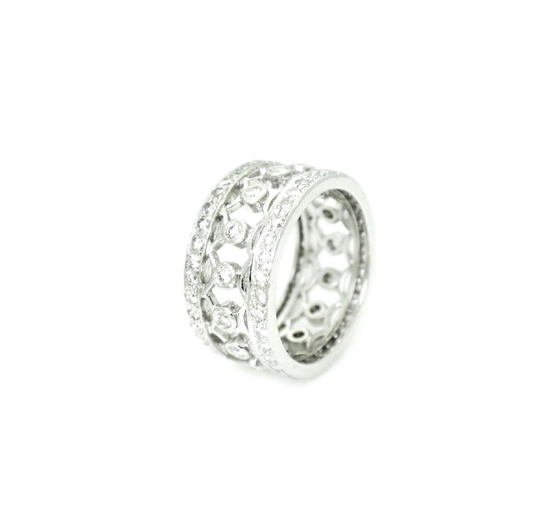 Platinum 1.27 carat VS G Diamond Lattice Bracelet - 4