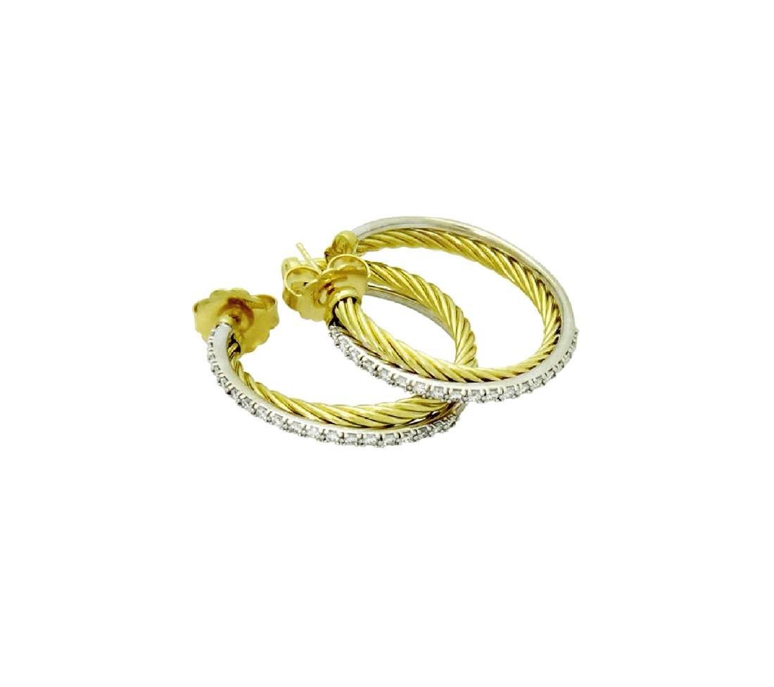David Yurman 18k Gold 0.50 Ct Pave Diamond Crossover - 4