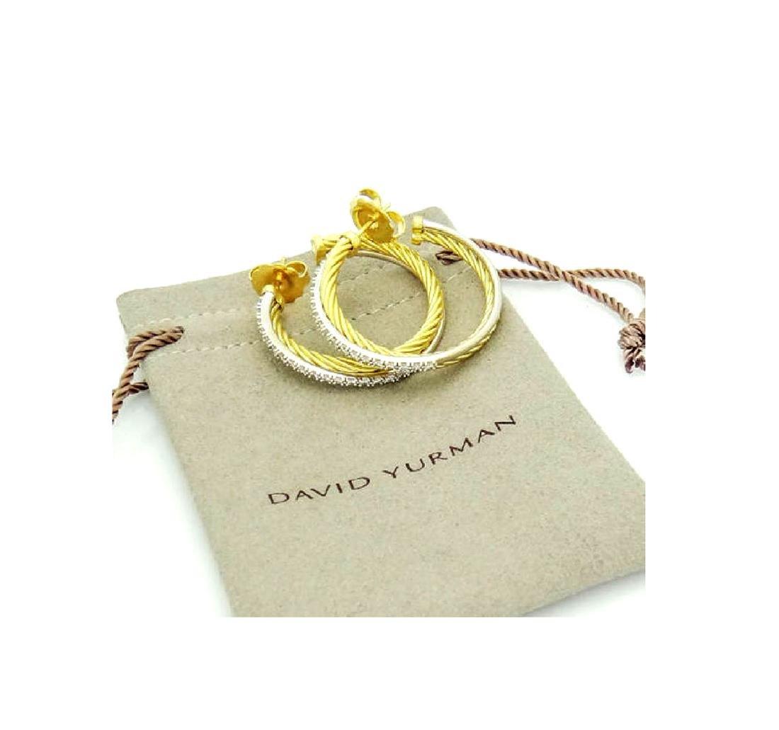 David Yurman 18k Gold 0.50 Ct Pave Diamond Crossover - 7