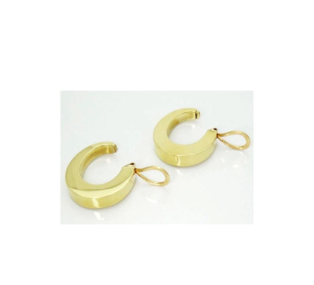 Tiffany & Co. 18k Wide Hoop Earrings Modernist 1960's - 4