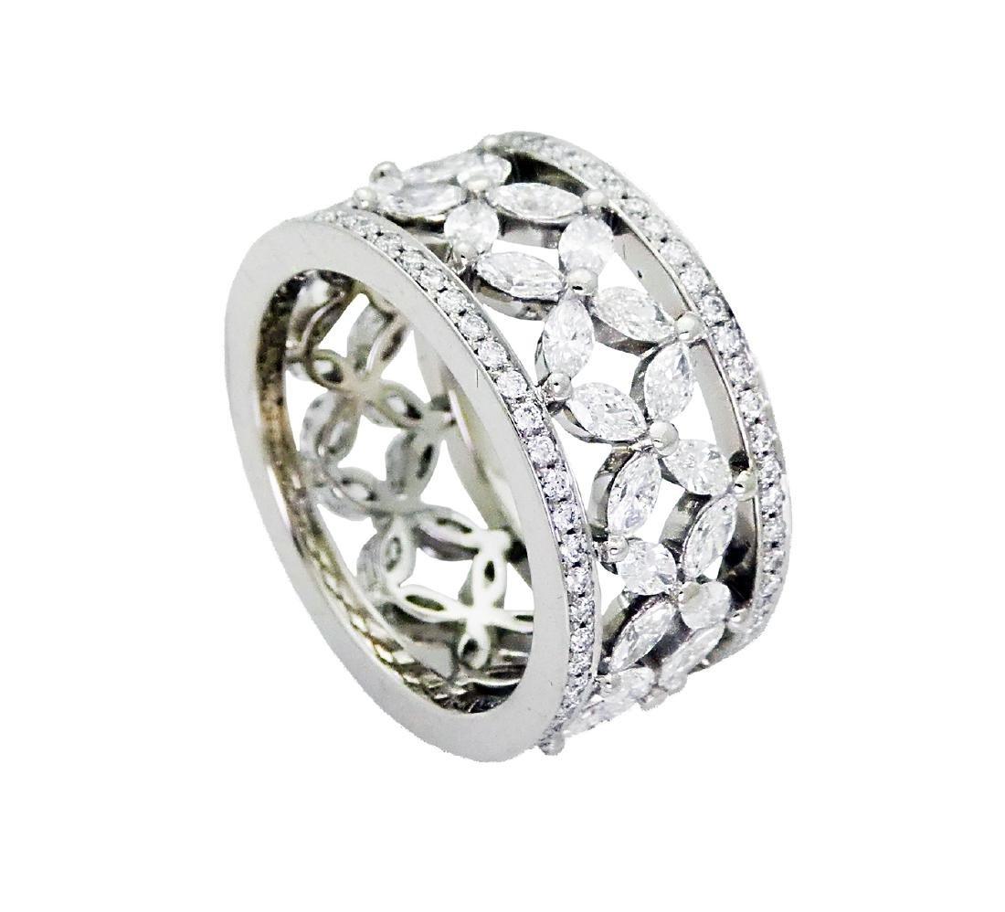 Tiffany & Co Victoria over 2.35 TCW Diamond Band in - 3