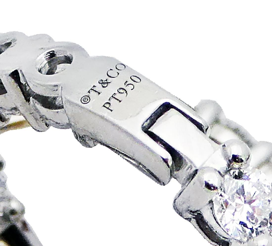 Tiffany & Co Diamond Medium Hoop Earrings in Platinum - 2