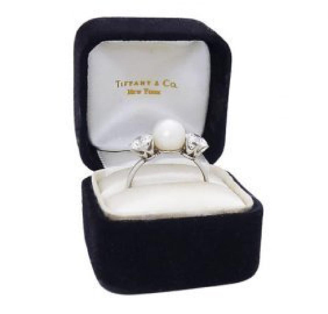 Tiffany & Co PT Round Brilliant  Diamond & Natural Ring - 2