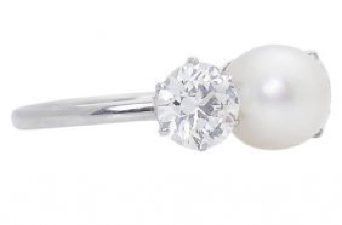 Tiffany & Co PT Round Brilliant  Diamond & Natural Ring - 3