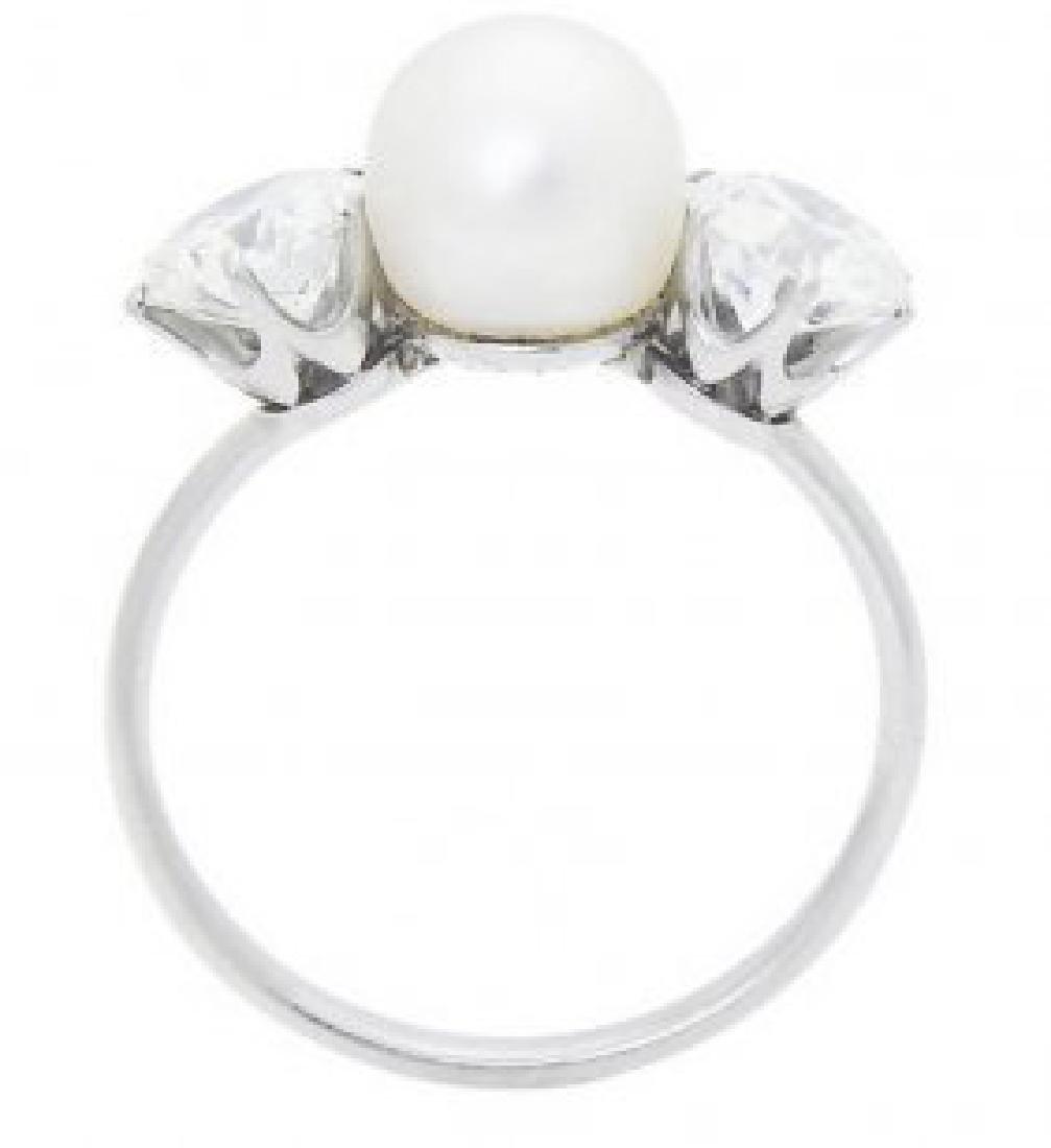 Tiffany & Co PT Round Brilliant  Diamond & Natural Ring - 5