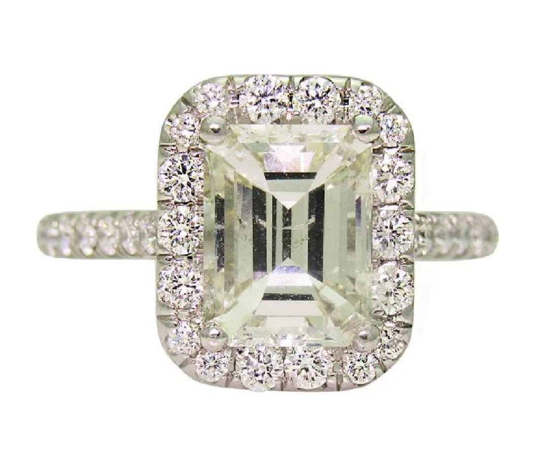 Platinum 3.5 TCW Diamond Engagement Ring size 7