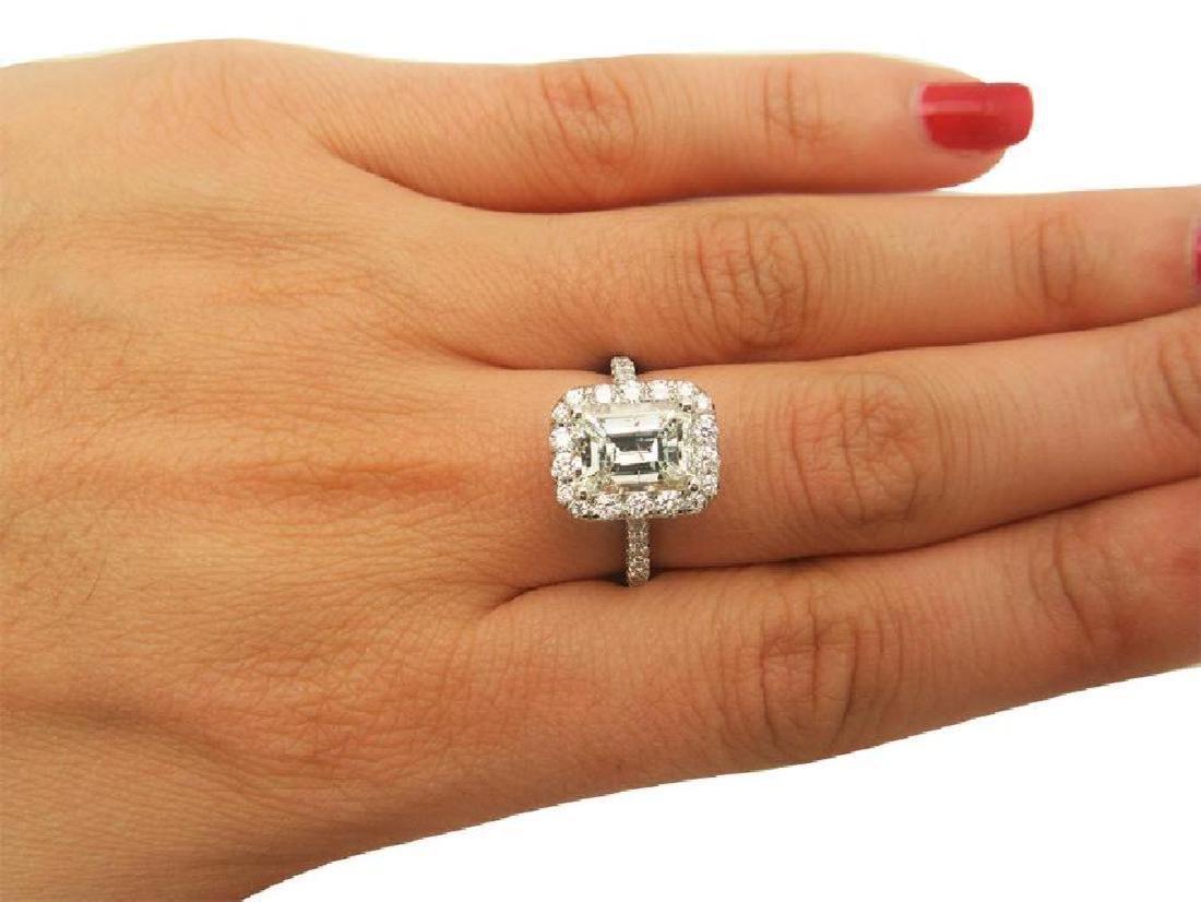 Platinum 3.5 TCW Diamond Engagement Ring size 7 - 5