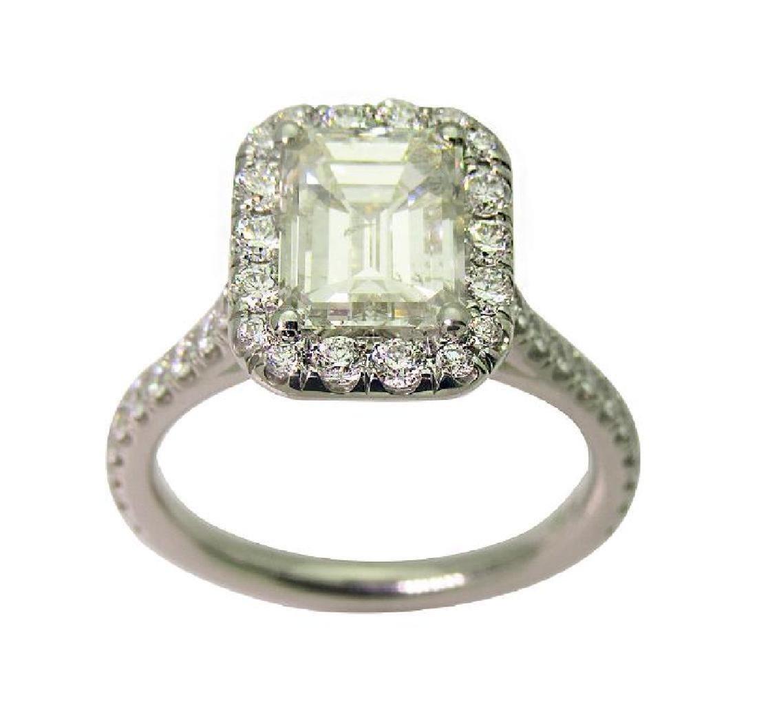 Platinum 3.5 TCW Diamond Engagement Ring size 7 - 7