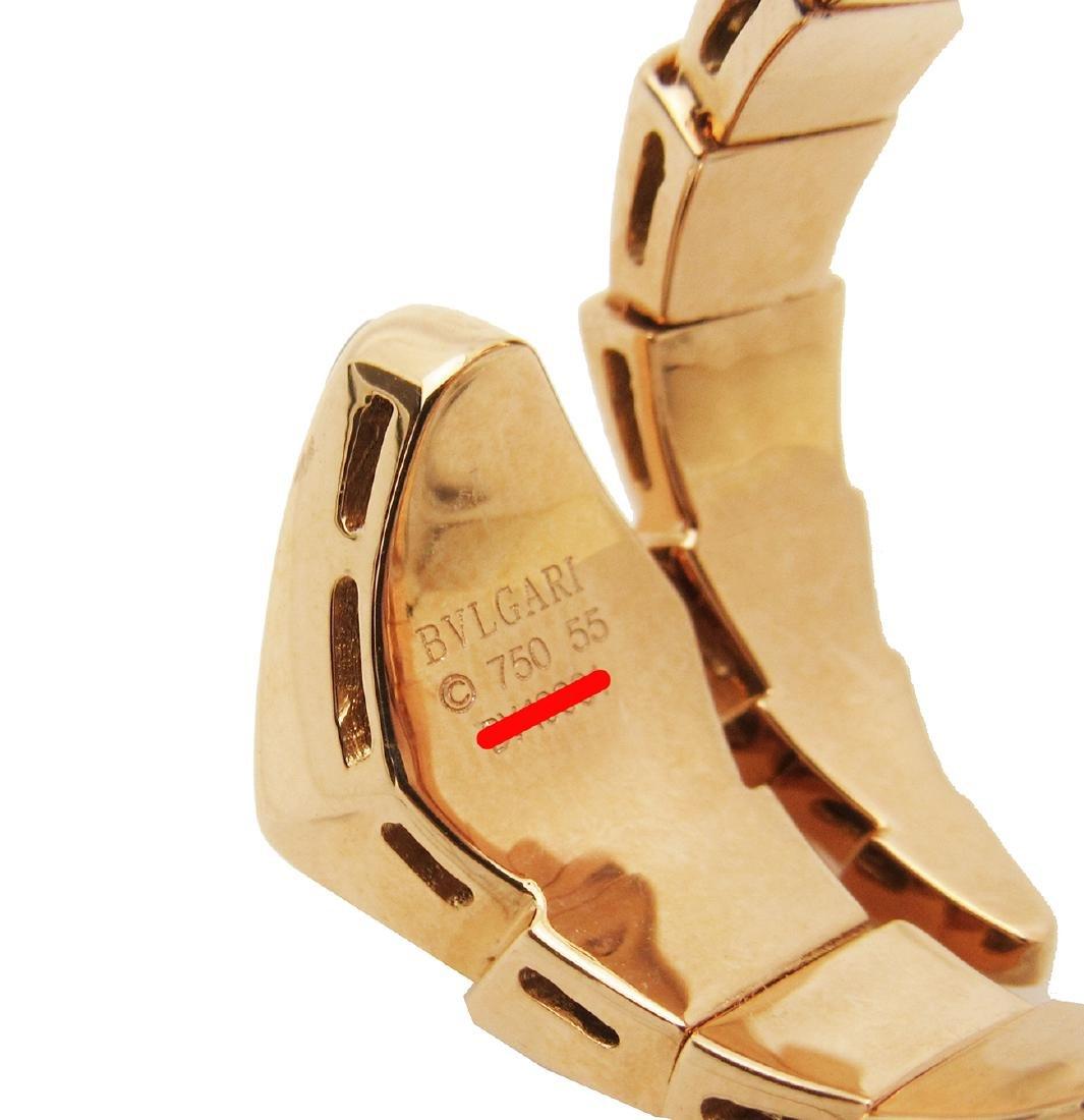 Bulgari 18k Rose 1.50 TCW Pave Diamond Onyx Ring Size - 5