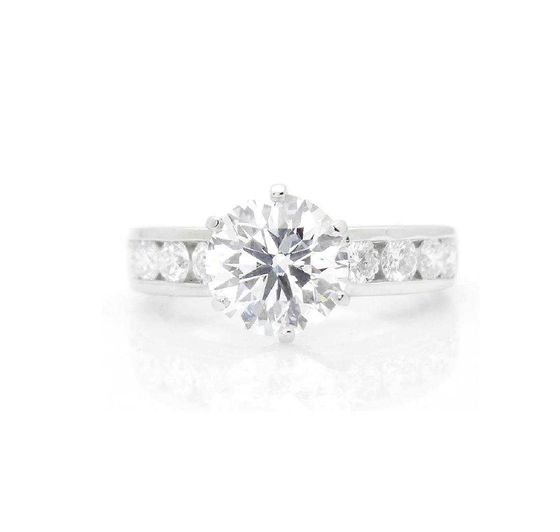 Tiffany & Co 950 2.19 VVS1 G Engagement Ring w/ GIA - 2