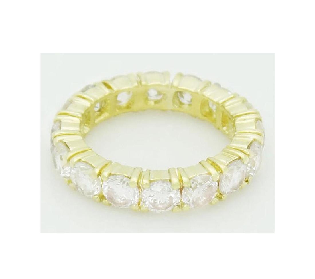 18k Gold 3.20 Carats TCW Diamond Eternity Band Ring