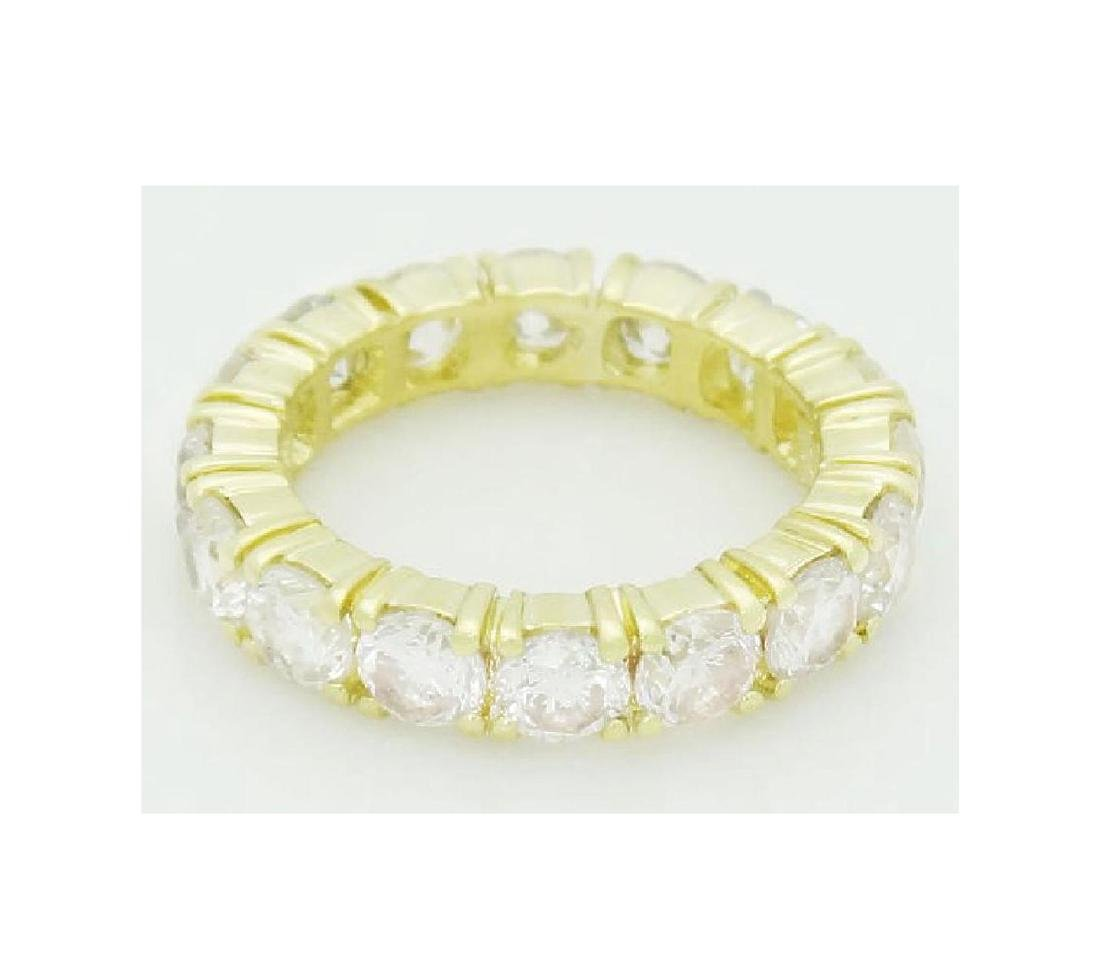 18k Gold 3.20 Carats TCW Diamond Eternity Band Ring