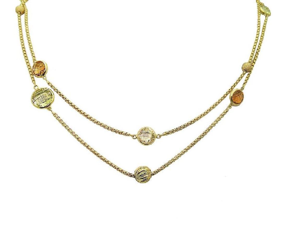 DAVID YURMAN 18k Madeira Lime Citrine Chain Necklace