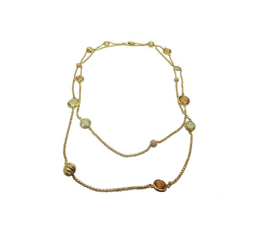 DAVID YURMAN 18k Madeira Lime Citrine Chain Necklace - 2