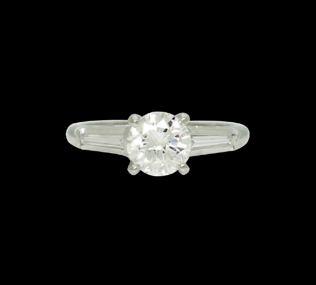 Platinum & 1.31 Carats TCW I G Brilliant Round Cut Ring