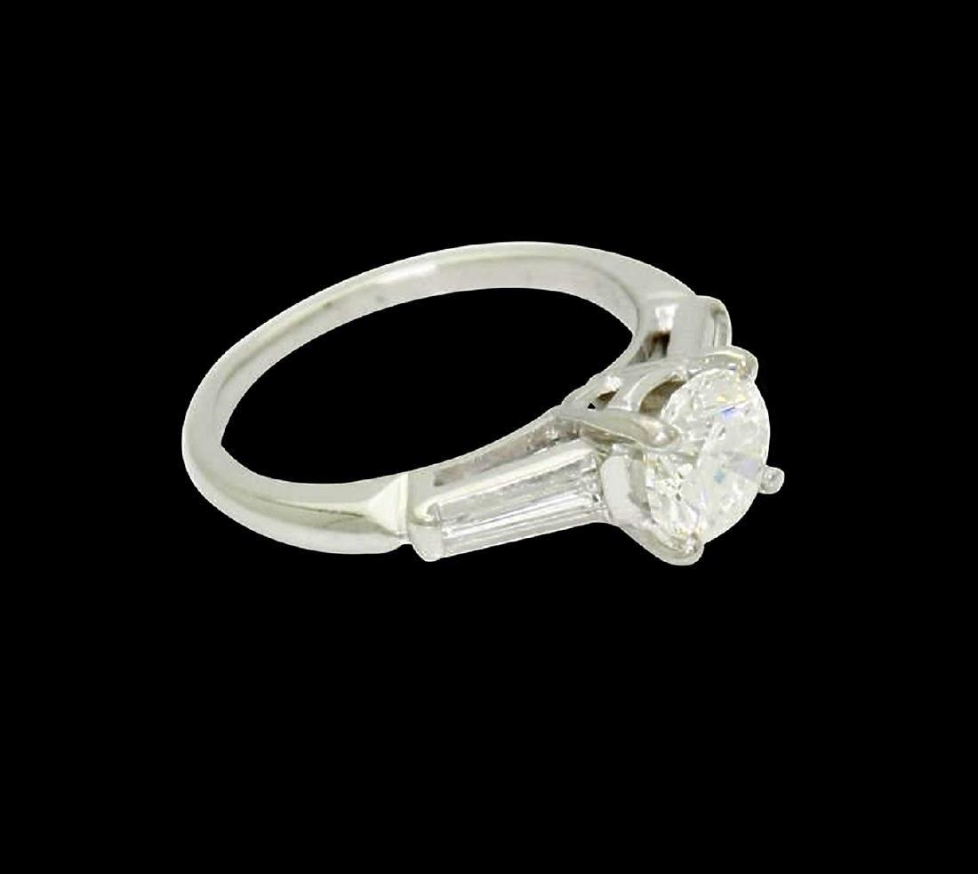 Platinum & 1.31 Carats TCW I G Brilliant Round Cut Ring - 2