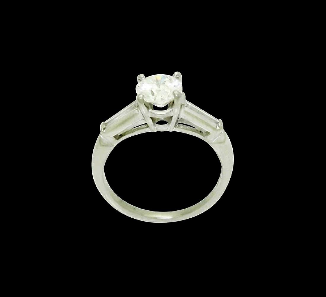 Platinum & 1.31 Carats TCW I G Brilliant Round Cut Ring - 3