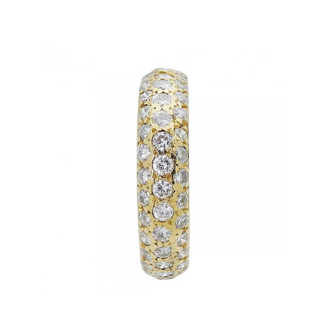 Estate Cartier Bombe 18k  1.50 TCW Pave Diamond Band - 5