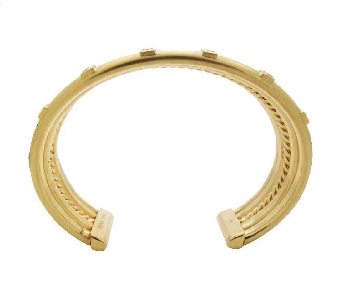 DAVID YURMAN 18k Gold Stax Medium Cuff Diamond Bracelet - 4