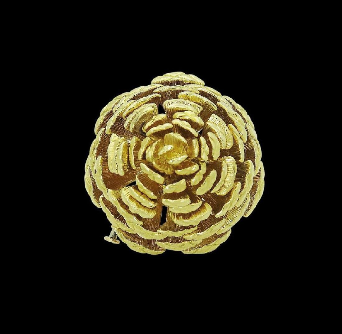 Tiffany & Co. 18k Yellow Gold Pine Cone Pin Brooch - 2