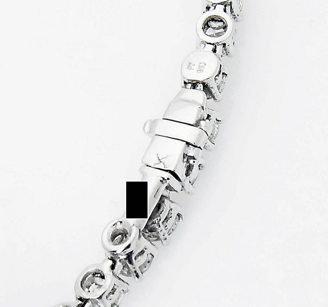 Van Cleef & Arpels Plat 950 20 Carat Diamond Necklace - 4